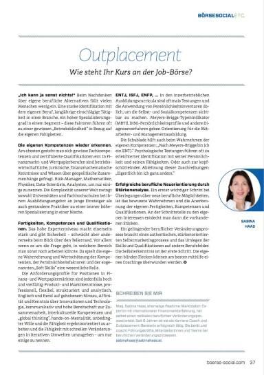 Outplacement: Wie steht Ihr Kurs an der Job-Börse?  - Börse Social Magazine #08