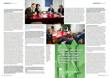Investments: Playing the Green Card - Börse Social Magazine #09