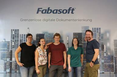 Fabasoft - Susanne Pfaffeneder, Michaela Osanger, Wenzel Kober, Ulrike Kogler und Mark Slattery