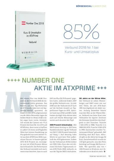 Number One 2018 Verbund ATX Prime