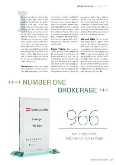 Number One 2018 Hello bank! Brokerage