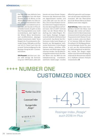 Number One 2018 Rosgix Customized Index