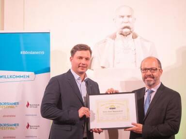 Johannes Gratzl (CFO Novomatic), Paul Severin (Erste Asset Management)
