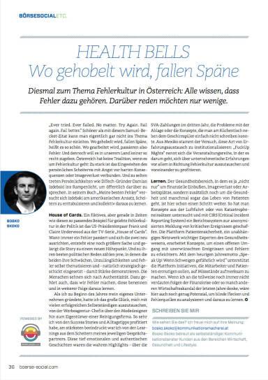 Health Bells - Wo gehobelt wird, fallen Späne - Börse Social Magazine #05