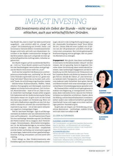 Impact Investing - Börse Social Magazine #05