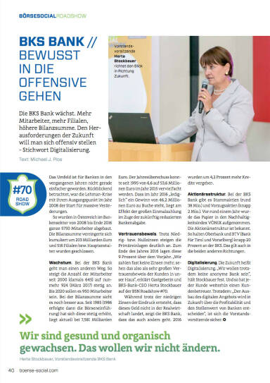 BKS Bank - Bewusst in die Offensive gehen - Börse Social Magazine #05
