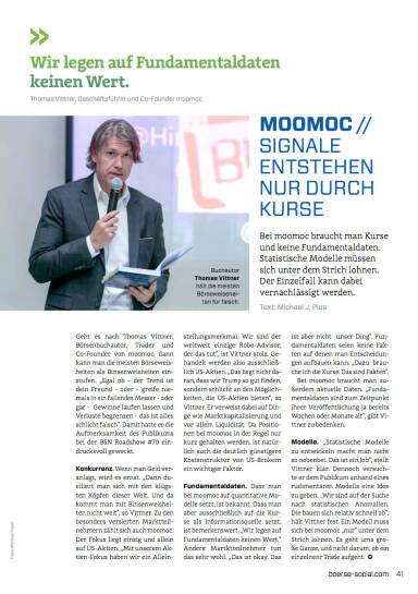 moomoc - Signale entstehen nur durch Kurse - Börse Social Magazine #05