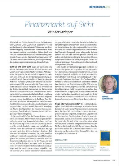 Finanzmarkt auf Sicht: Zeit der Stripper - Börse Social Magazine #06