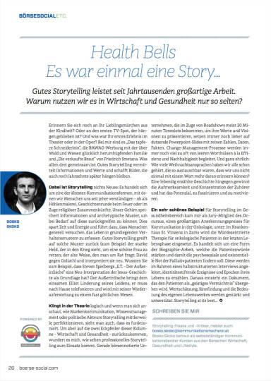 Health Bells: Es war einmal eine Story ... - Börse Social Magazine #06