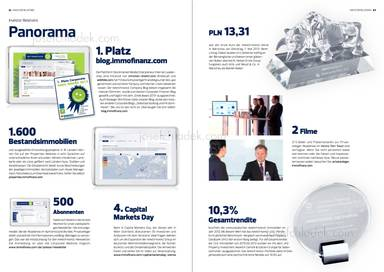 "Panorama, 1. Platz blog.immofinanz.com ""Smeil Award 2013"", Bestandsimmobilien, Capital Markets Day"
