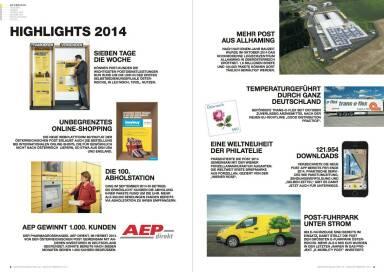 Österreichische Post Geschäftsbericht 2014 - Highlights